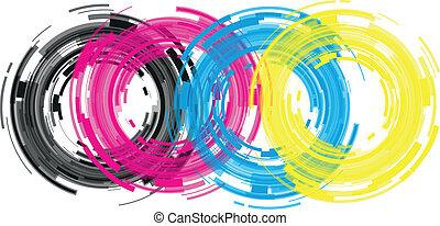 lente, abstratos, câmera