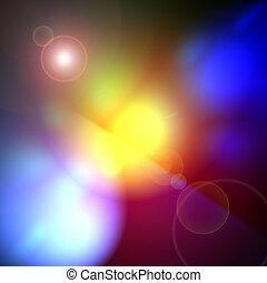 lente, arcobaleno, bagliore