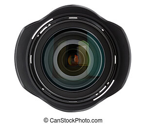 lente, bianco, macchina fotografica, isolato, fondo