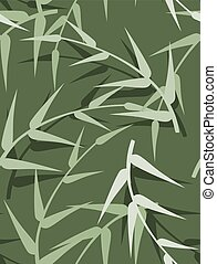 lente, bladeren, seamless, vector, groene achtergrond
