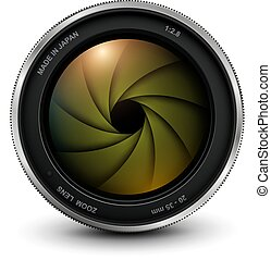 lente cámara, foto, obturador