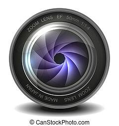 lente, cámara fotográfica de la foto, shutter.