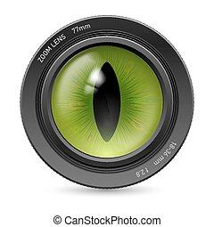 lente, câmera, ícone