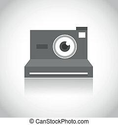 lente, câmera foto, instante, olho