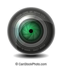 lente, câmera foto, shutter.