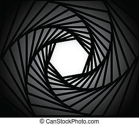 lente, câmera, fundo