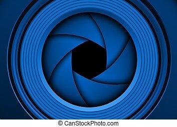 lente câmera, fundo, shutter., tecnologia