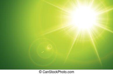 lente, chama sol
