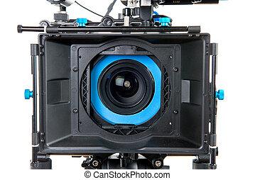 lente, chiudere, macchina fotografica, video