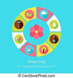 lente, concept, tijd