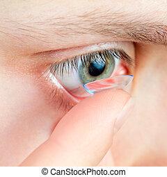 lente contato