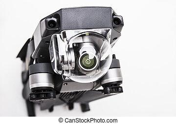 lente, drone., macchina fotografica, dettaglio