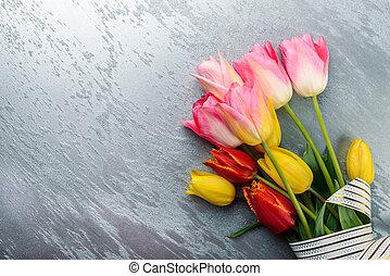 lente, floral, achtergrond