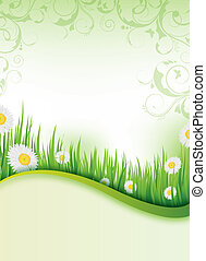 lente, flyer, ontwerp
