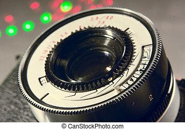 lente, foto, primo piano, film macchina fotografica