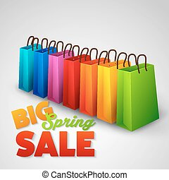 lente, groot, verkoopaffiche