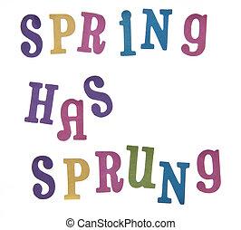 lente, heeft, sprung!