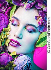 lente, helder, makeup