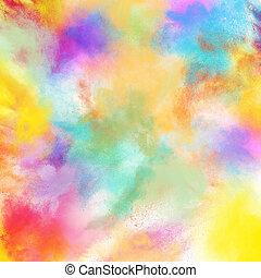 lente, kleurrijke, barsten