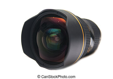 lente, largo, macchina fotografica, angolo, digitale