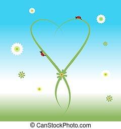 lente, lieveheersbeest, achtergrond