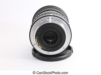 lente, macchina fotografica, dslr, indietro