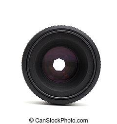 lente, macchina fotografica, nero