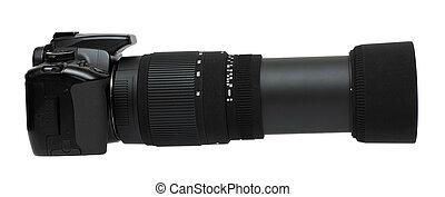 lente, macchina fotografica, telefoto, zoom