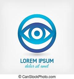 lente, olhos, símbolo