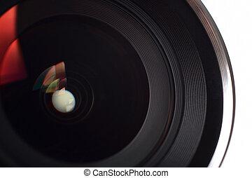 lente, primo piano, macchina fotografica