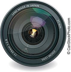 lente, profissional, foto