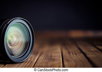 lente, reflections., macchina fotografica