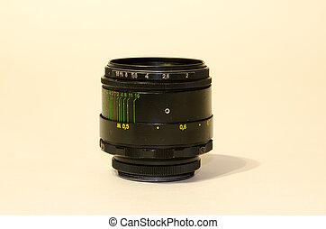 lente, reflections., macchina fotografica, lense