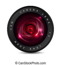 lente, rosso