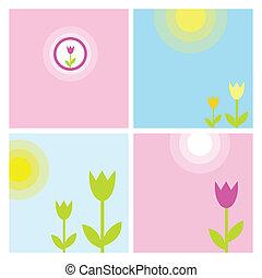 lente, set, achtergrond