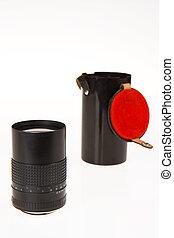 lente, vecchio, macchina fotografica, manuale