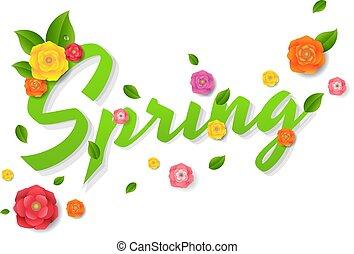 lente, verkoop, tekst