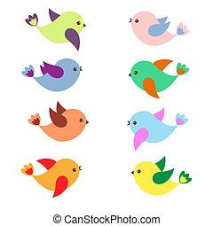 lente, vogels