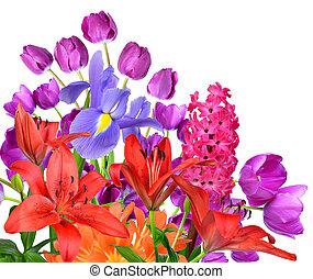 lentebloemen, vrijstaand