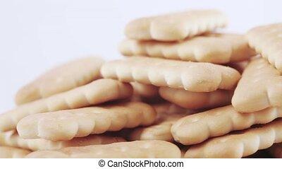Lenten cookies in bulk - Figured lean cookies stacked on top...