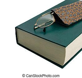 lentes, libro