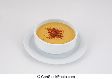 Lentil and tarhana soup.