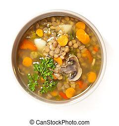 Lentil soup - A cup of lentil soup