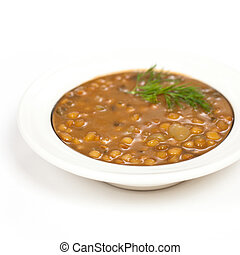 Lentil soup with vegetables