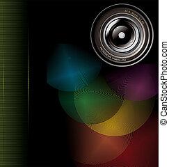 lentille, appareil photo, fond