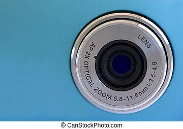 lentille, appareil photo, numérique