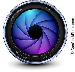 lentille appareil-photo, photo, volet