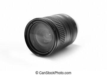 lentille, blanc, appareil photo, zoom, numérique