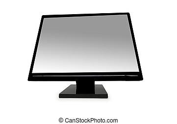 lentille, coup écran, grand angle, lcd