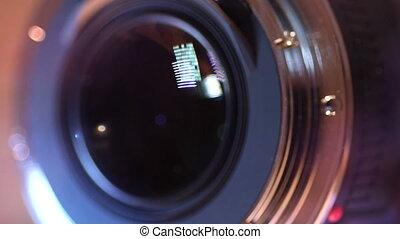 lentille, fin, appareil photo, haut